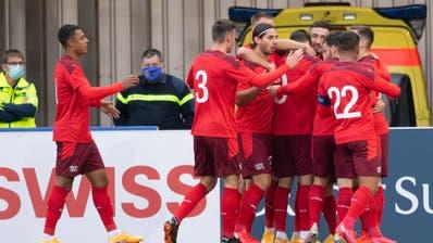 Jubel über die Qualifikation für die Schweizer U21. (Claudio De Capitani / freshfocus)