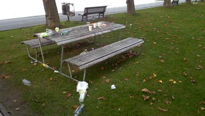 Am Zuger Seeufer waren in den vergangenen Monaten an warmen Tagen häufiger solche Szenen (hier ein Bild von Mitte September) zu sehen. (Bild: Zug)