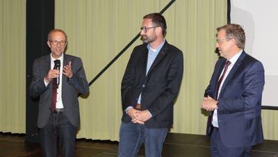 Beschäftigten sich an einer Veranstaltung mit der Urner Sakrallandschaft (von links): Roland Norer, Thomas Brunner und Markus Ries. (Bild: Elias Bricker)
