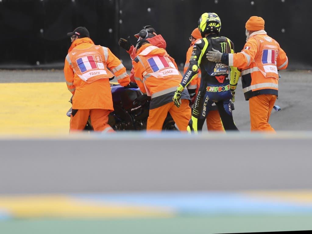 Valentino Rossi in der Krise - nach drei Ausfällen verpasst er wegen eines positiven Coronatests den GP von Aragon