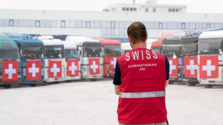 Es ist bereits der 12. Konvoi der Humanitären Hilfe der Schweiz. (Archivbild) (Keystone)
