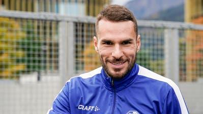 Erstmals nach acht Jahren stürmt er wieder für Luzern:Dejan Sorgic, hier während dem Training in Luzern. (Bild: Martin Meienberger/Freshfocus (Luzern, 7. Oktober 2020))