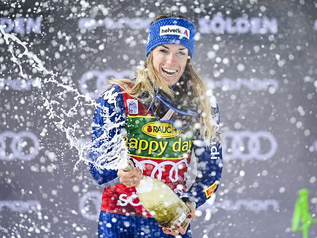 Marta Bassino feierte in Sölden ihren zweiten Weltcupsieg