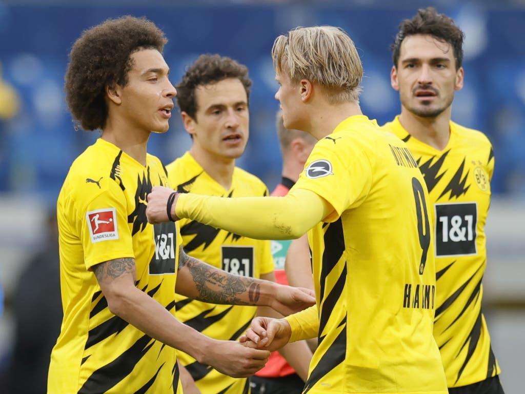 Jubel bei Borussia Dortmund: Der BVB kam gegen Hoffenheim zu einem wertvollen Auswärtssieg