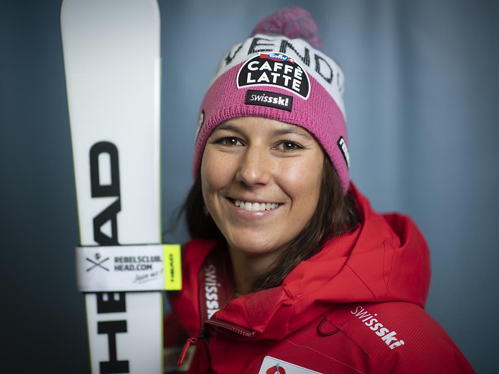 Wendy Holdener entschloss sich erst Mitte Woche zum Start in Sölden, für den Riesenslalom erhielt sie die Startnummer 1 zugeteilt