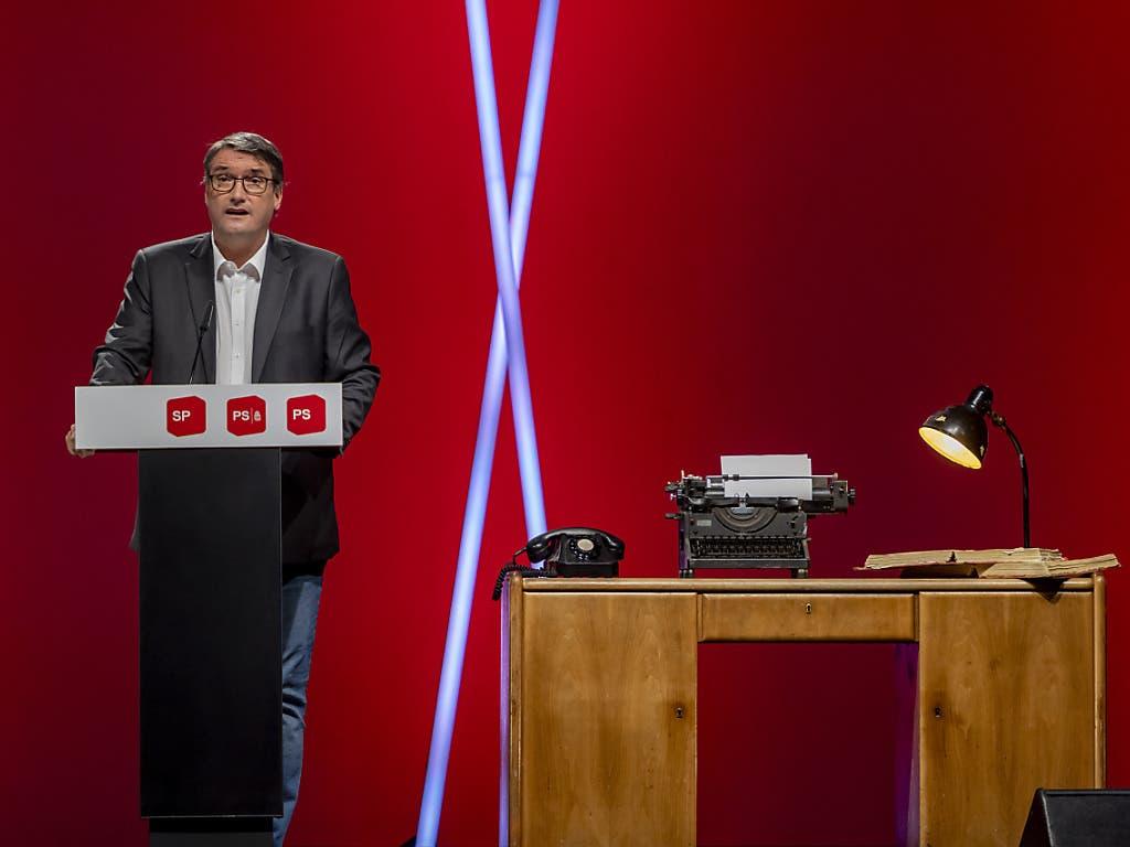 Christian Levrat, der scheidende SP-Präsident verabschiedete sich am digital übertragenen Parteitag in Basel von seinen Genossinnen und Genossen.