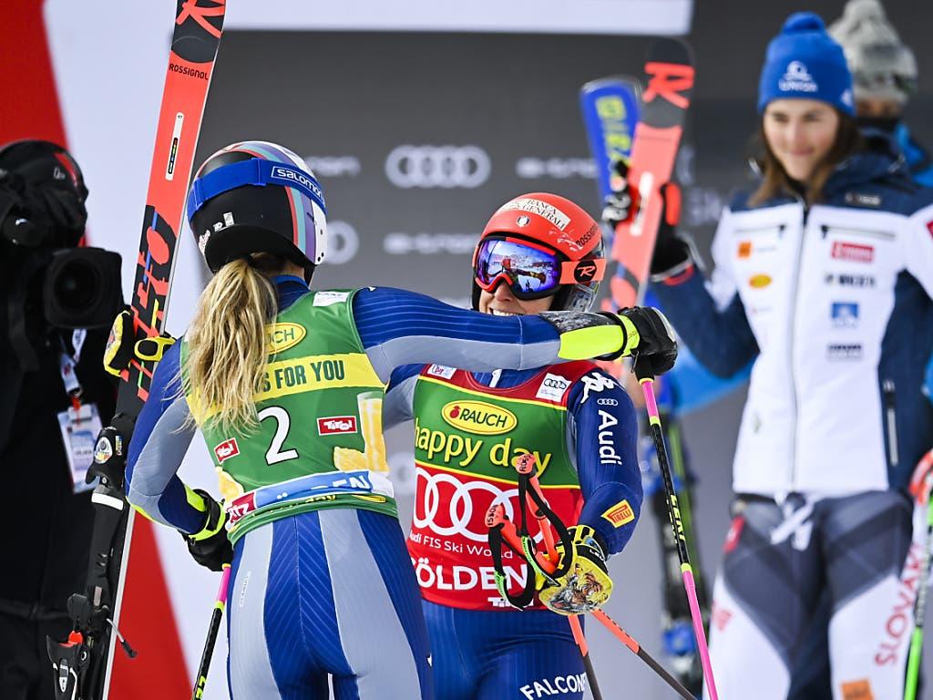 Marta Bassino und Federica Brignone feierten in Sölden einen italienischen Doppelsieg