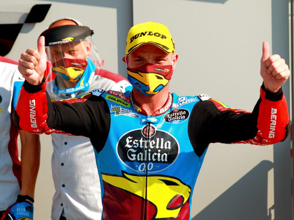 Sam Lowes feiert wie schon vor einer Woche in Le Mans einen Sieg.