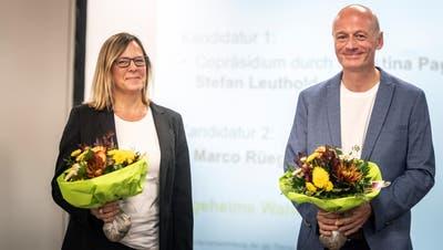 Christina Pagnoncini(48, Alterswilen) und Stefan Leuthold (52, Frauenfeld) präsidieren neu die GLP Thurgau. (Bild: Andrea Stalder)