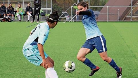 Die Staaderinnen, hier in Ballbesitz, landeten gegen Balerna einen Befreiungsschlag. (Bild: Claudio Wehrle)