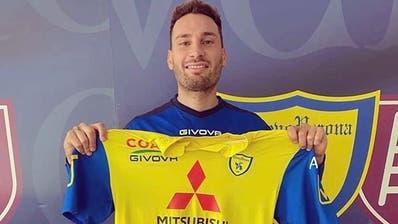 Ex-FCL-Stürmer Francesco Margiotta hat bei Chievo Verona unterschrieben. (Bild: AC Chievo Verona)