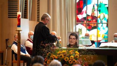 Pfarrer Markus Sahli während dem Gottesdienst anlässlich derGedenkfeierin der Lukaskirche. (Bild: Dominik Wunderli (Luzern, 21. Oktober 2020))