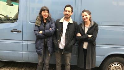 Haben grosse Pläne: Julia Haenni, Luca Schaffer und Barbara Heynen von der Jungen Marie. (Bild: Kerstin Griesshaber)