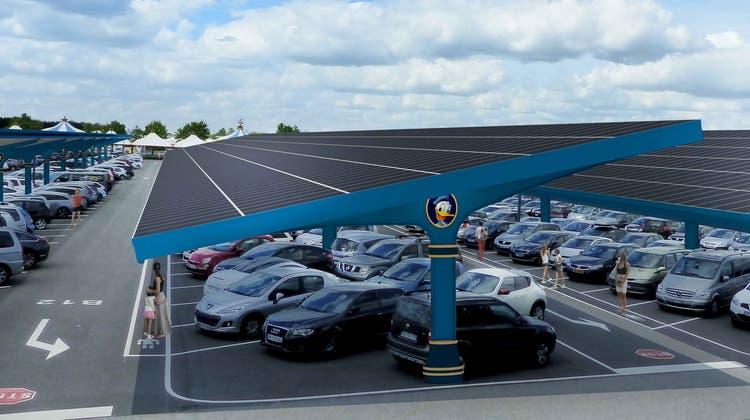 So soll die neue Solaranlage im Disneyland Paris aussehen. (PD)