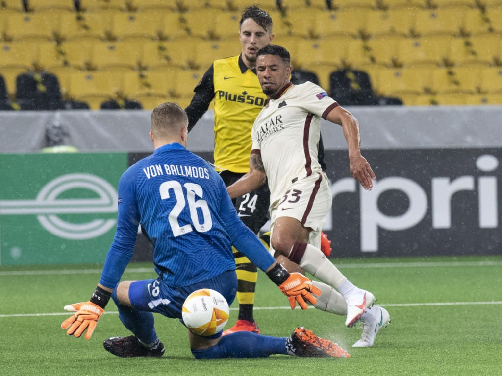 Einer von zwei Torschüssen der Römer, eines von zwei Toren: Bruno Peres erzielt für die AS Roma das 1:1