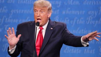 Präsident Donald Trump (l.) und sein Herausforderer Joe Biden (r.) im letzten TV-Duell.