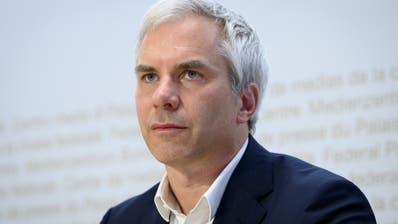 Martin Ackermann, Präsident der wissenschaftlichen Task Force des Bundes, präsentierte am Freitag die aktualisierte Einschätzung zur Coronasituation. (Keystone)