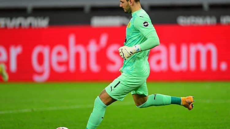 Bleibt er nun im Tor? Roman Bürki von Borussia Dortmund im Spiel gegen Schalke (3:0). (Freshfocus)