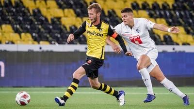 Filip Ugrinic zeigte gegen YB mit Fabian Lustenberger eine gute Leistung. (Bild: Martin Meienberger)