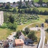 Die Ruckhalde zwischen Oberstrasse und Riethüsli: Sie ist die letzte zentrumsnahe Baulandreserve in der Stadt. (Bild: Ralph Ribi (8. August 2019))