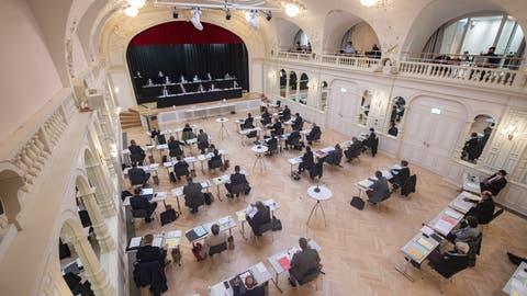 Der Obwaldner Kantonsrat tagte vergangene Woche im Kursaal Engelberg. (Bild: Urs Flüeler/Keystone (22. Oktober 2020))