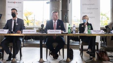 Teilte aus: Casimir Platzer, Präsident GastroSuisse. (Bild: Ennio Leanza / KEYSTONE)