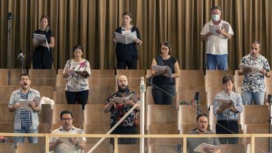 Nutzlos? Zürich verbannte Orchester und Chor vom Opernhaus in einen Probesaal, Genf spielte diese Woche das Orchester sogar ab Band ab. (Ennio Leanza / KEYSTONE)