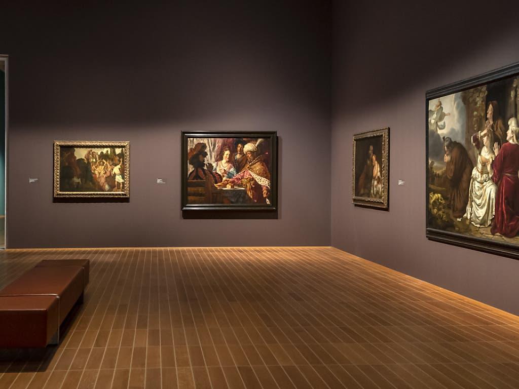 Blick in die Ausstellung «Rembrandts Orient - Westöstliche Begegnung in der niederländischen Kunst des 17. Jahrhunderts» im Kunstmuseum Basel, die am Samstag ihre Tore öffnen wird.