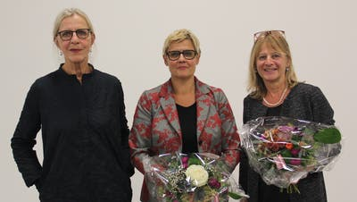 Von links: Annalise Russi, Gerda Walker und das abtretende Vorstandsmitglied Irène Kölliker. (Bild: Paul Gwerder (Altdorf, 1. Oktober 2020))