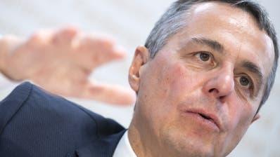 Aussenminister Ignazio Cassis, dem das DEZA unterstellt ist. (KEYSTONE/Marcel Bieri) (Marcel Bieri / KEYSTONE)