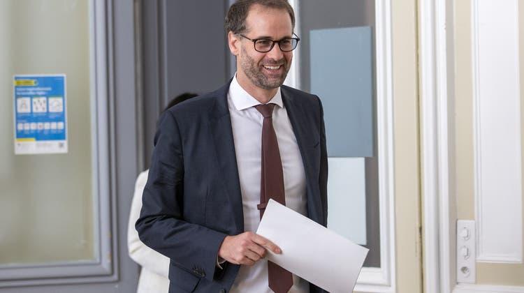 Der Genfer Staatsratspräsident Antonio Hodgers arbeitet bis am 12. Oktober von Zuhause aus. (Keystone)
