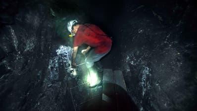 Ein Arbeiter in einer Smaragdmine in Kolumbien. (Thierry Falise / LightRocket)
