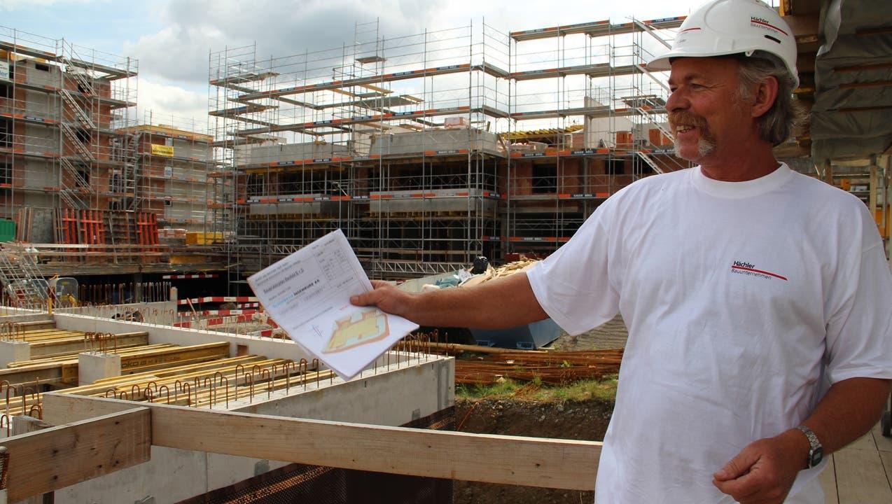 Häuser bauen ist seine Leidenschaft - seit 40 Jahren
