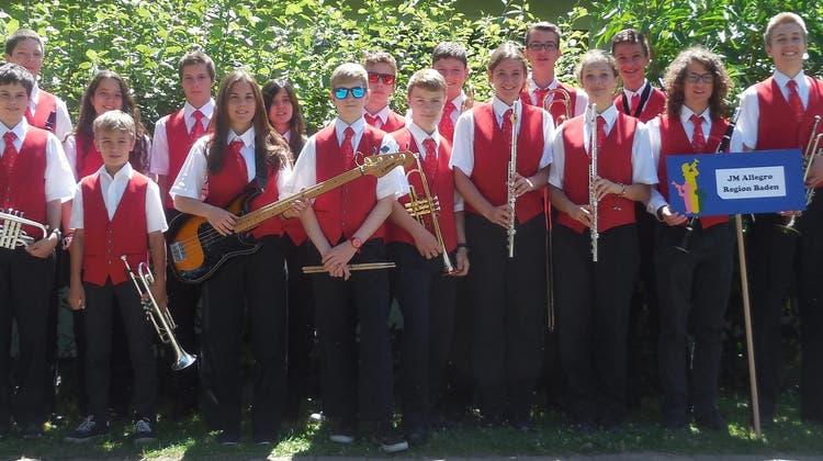 Jugendmusik Allegro Region Baden erfolgreich am Jugendmusiktag in Koblenz !