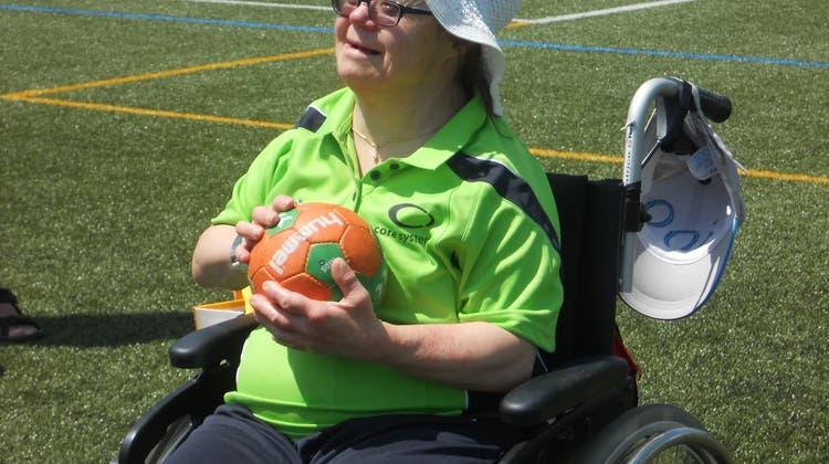 Sportgruppe für Behinderte in Magglingen dabei