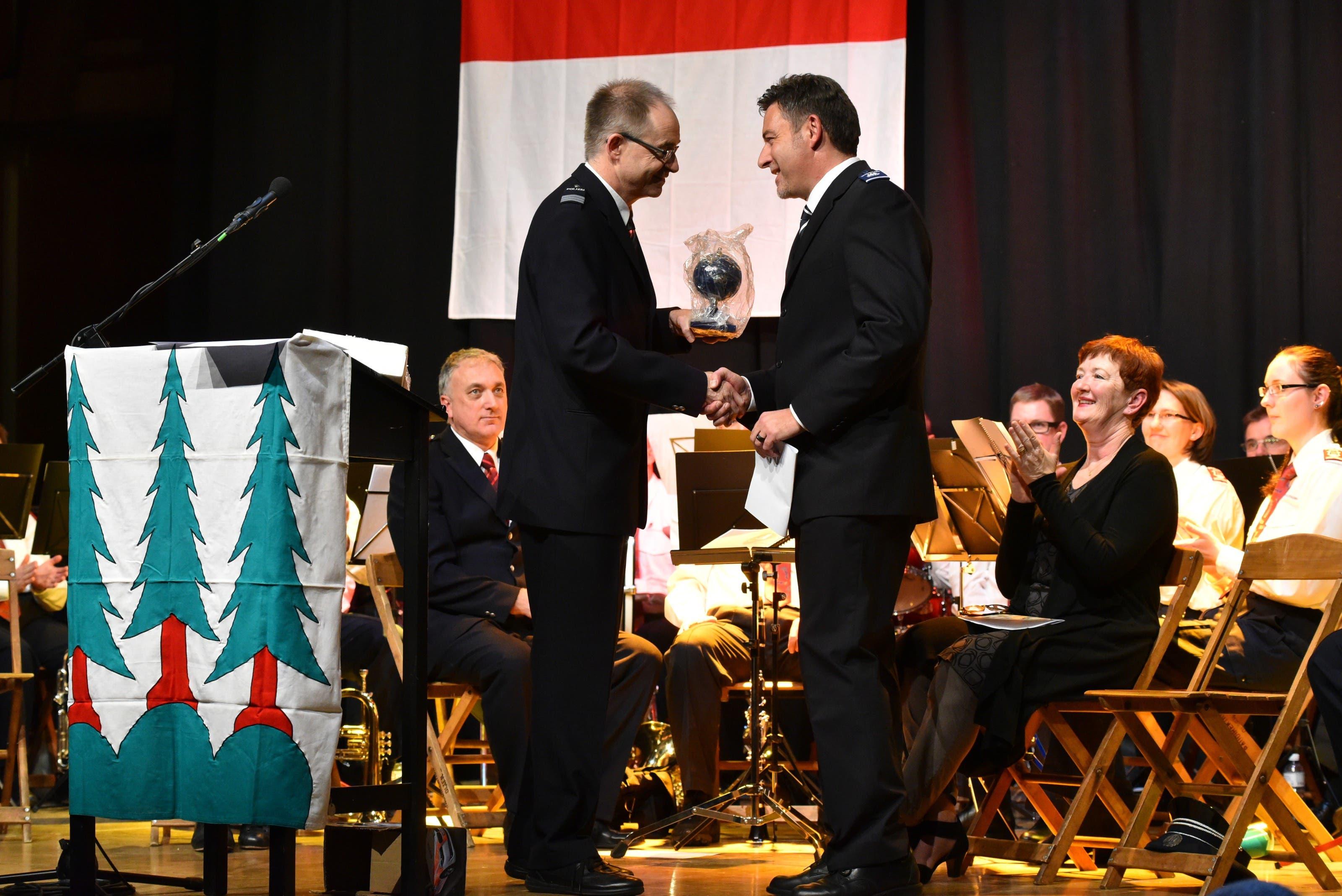 Kantonspolizei-Kommandant Thomas Zuber und Daniel Bürki