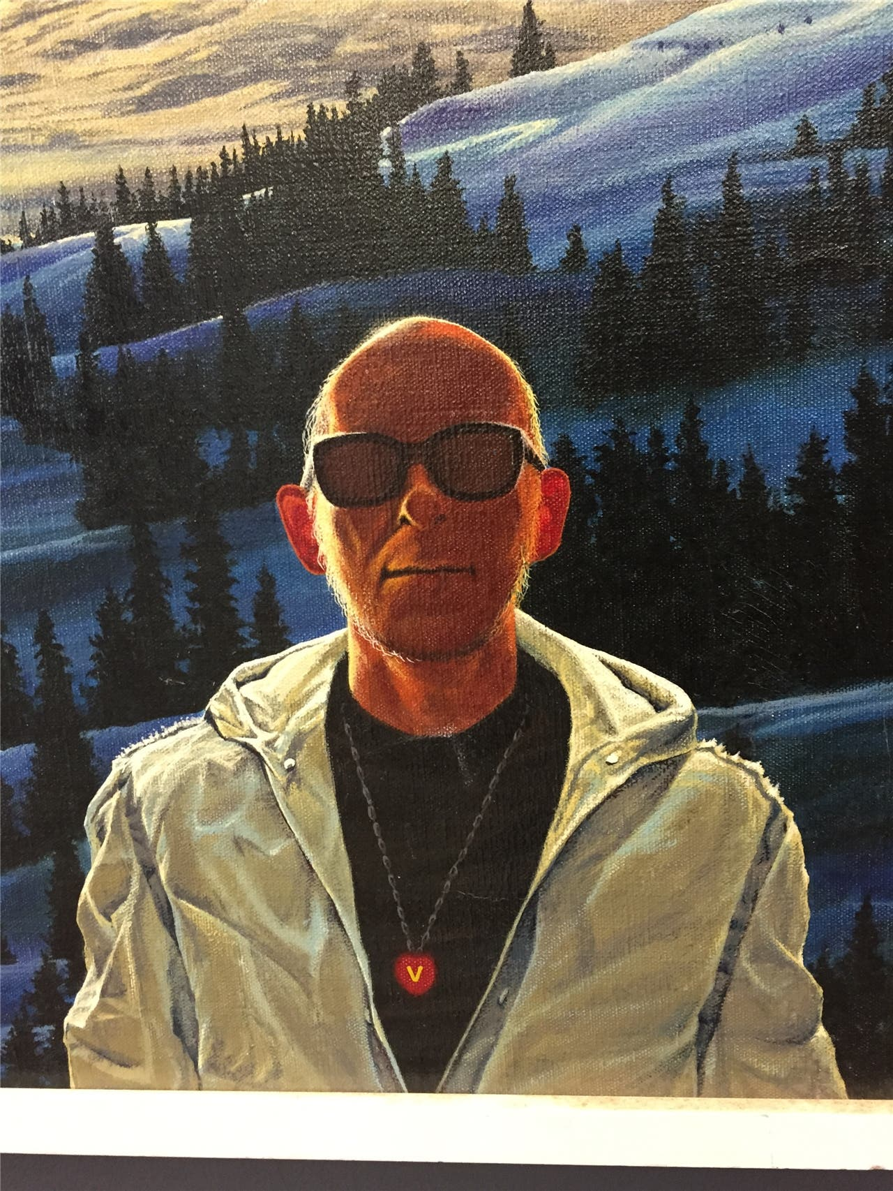 Erico Schommer, Selbstporträt (Detail aus einem Gemälde). Altorfer