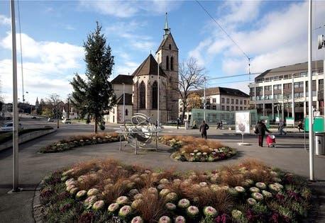 Am Übergang zwischen Mittelalter und Neuzeit: Blick vom Wettsteinplatz in Richtung Kleinbasler Altstadt.