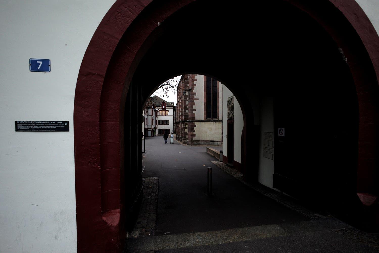 Das Bürgerliche Waisenhaus zwischen Wettsteinplatz und Rhein.