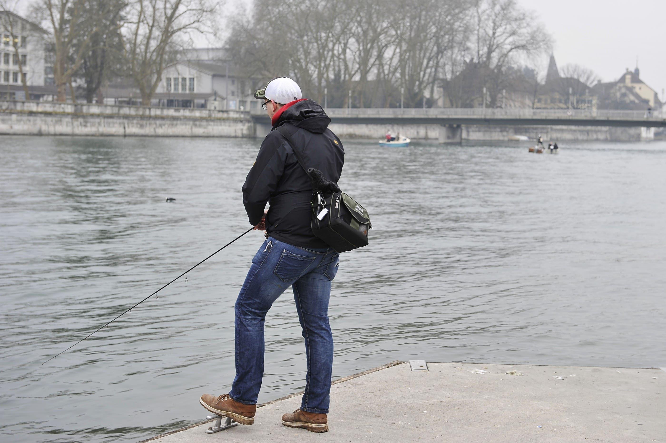 Erste Versuche vom Ufer aus