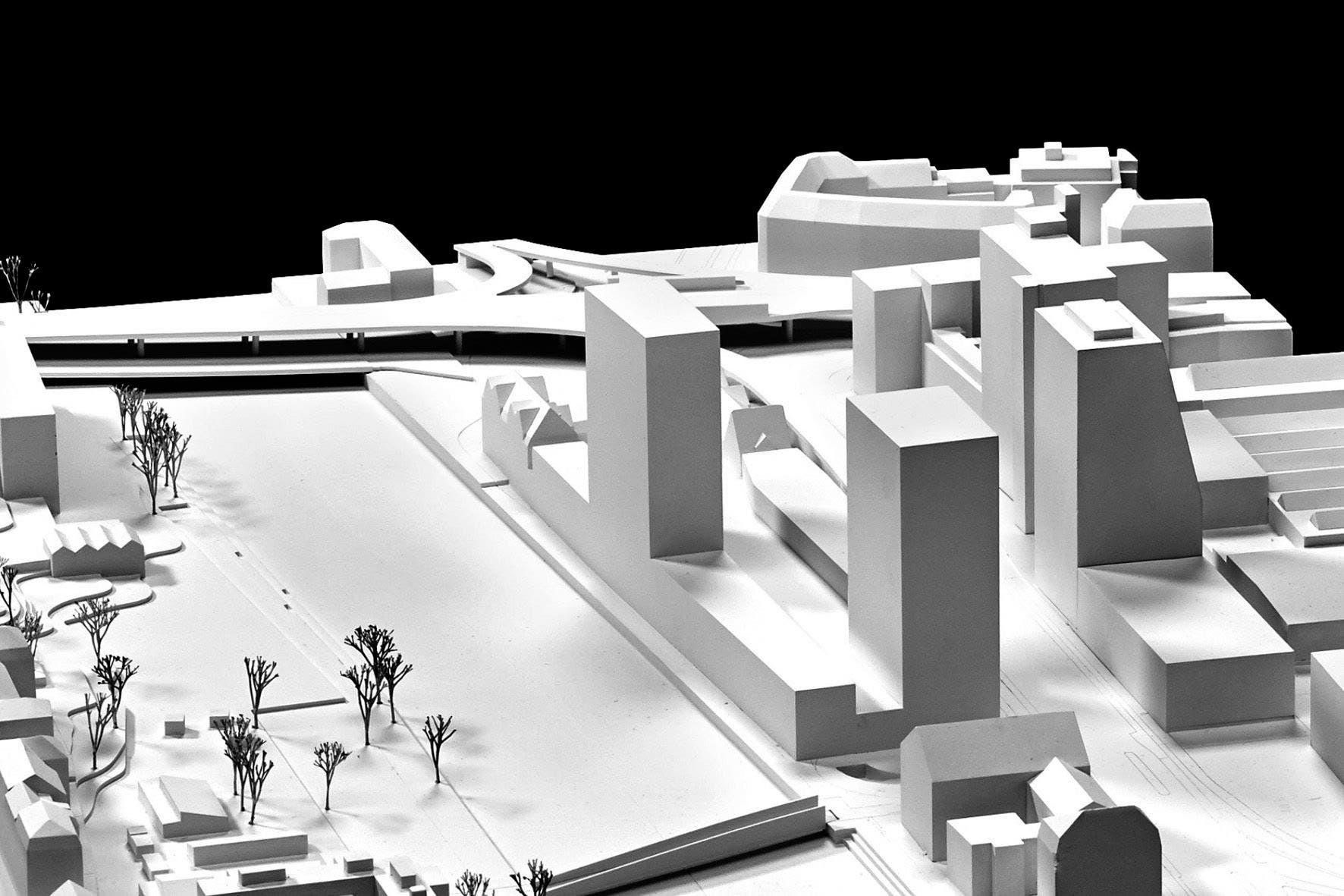 Modell des geplanten Projekts.
