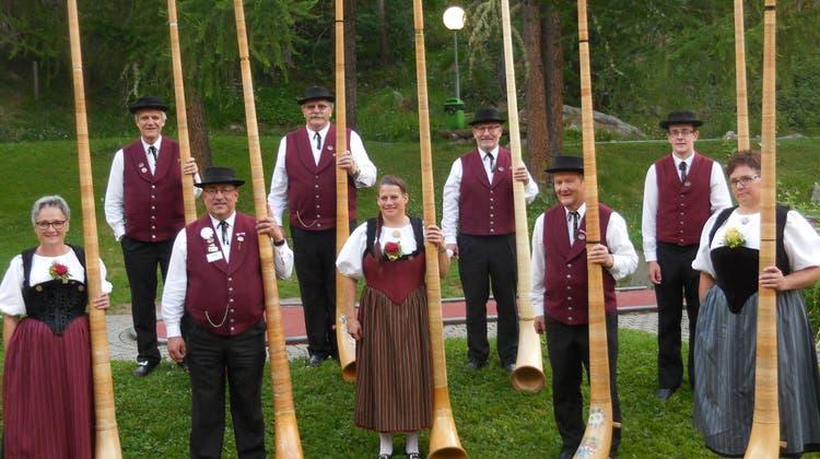 Erfolgreiche Alphorngruppe Laupersdorf