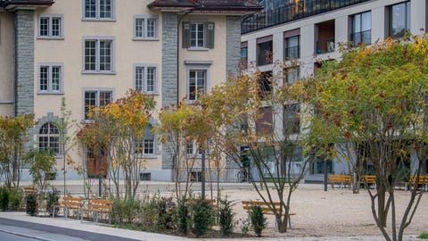 Dieser Platz zwischen altem Gemeindehaus und Lindenpark soll umbenannt werden. (Bild: Nadia Schärli (Kriens, 5. Oktober 2020))