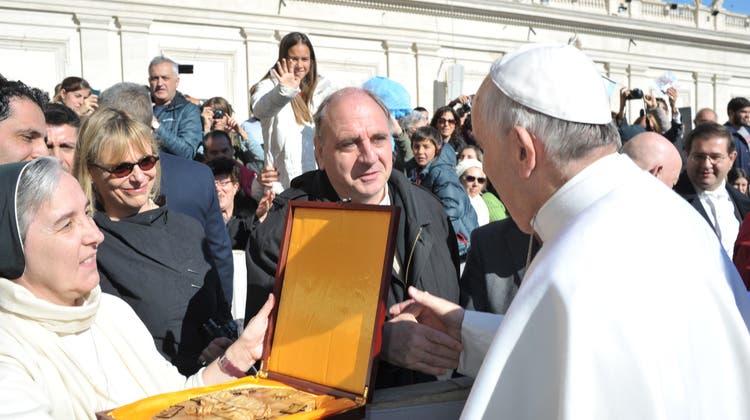 Solothurns ehemaliger Stadtpfarrer begegnet dem Papst