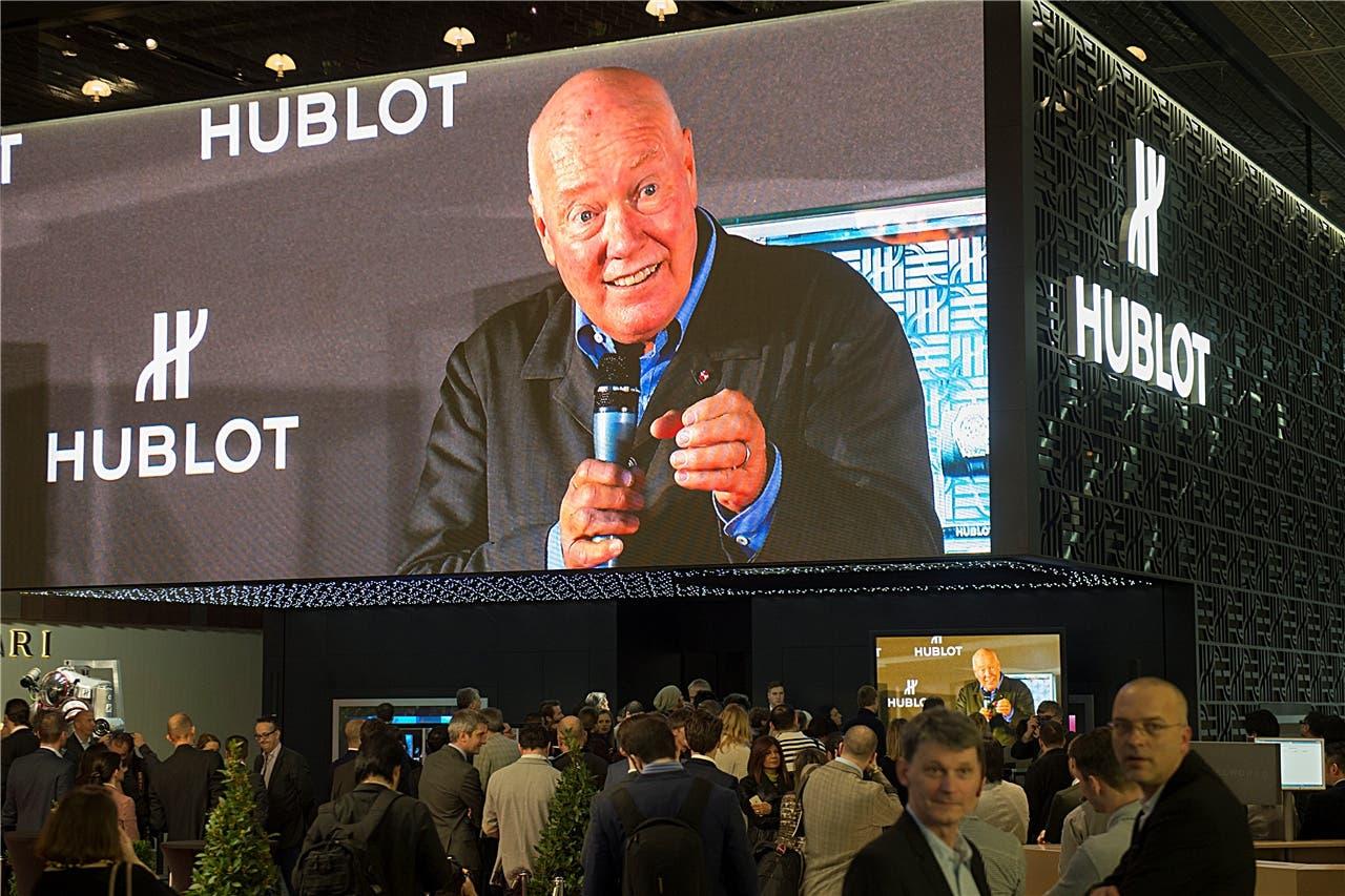 «Passion and Success» – Leidenschaft und Erfolg: LMVH-Uhrenchef Jean-Claude Biver hält bei Hublot eine Pressekonferenz.key