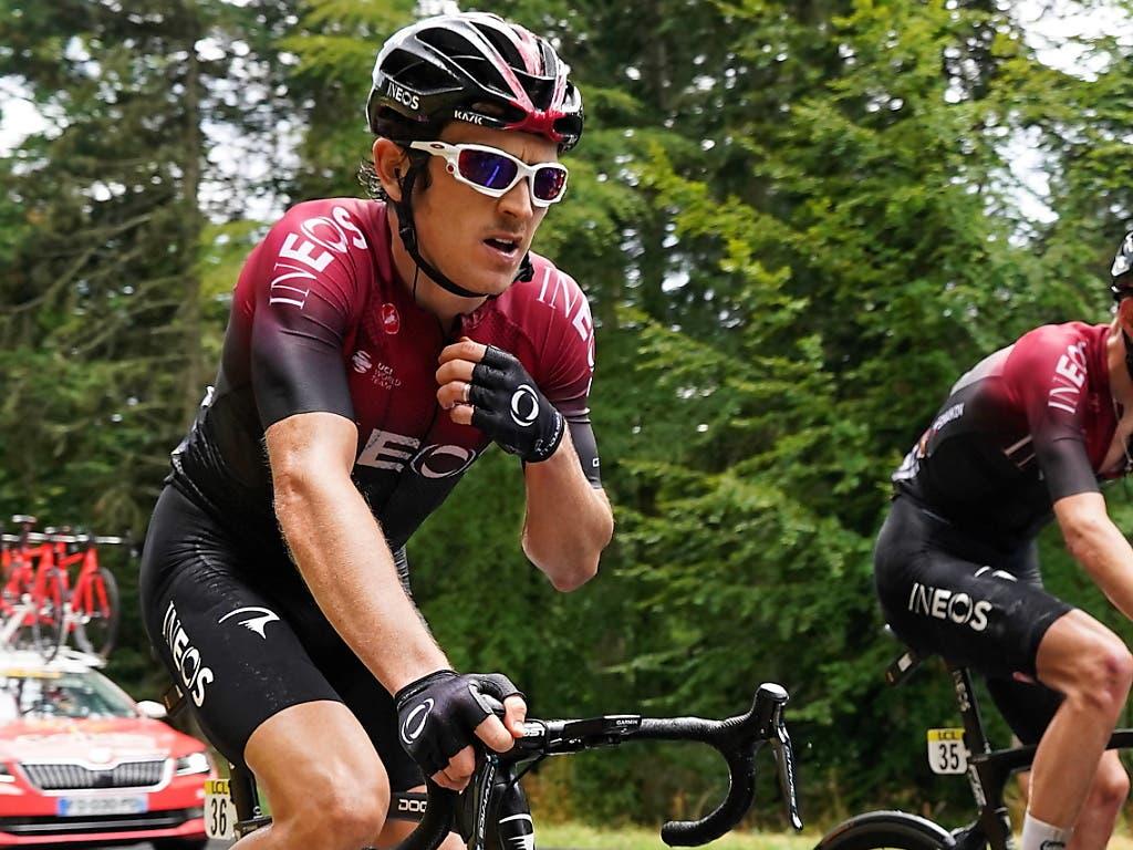 Für Geraint Thomas (links), im Bild bei der diesjährigen Daupiné-Rundfahrt, ist der Traum vom Gesamtsieg am Giro bereits vorbei. Der Brite verlor über zwölf Minuten