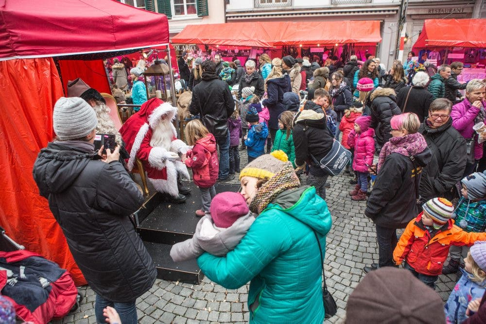 Reger Andrang beim Samichlaus