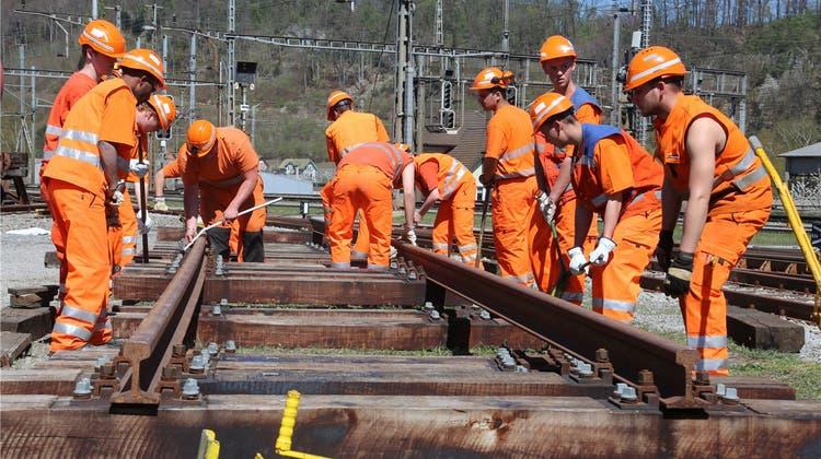 Wer Gleisbauer werden will, muss das Casting überstehen