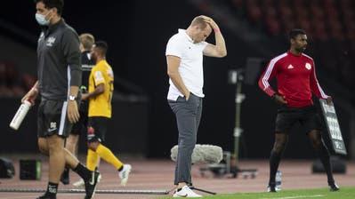 Ratlos: Ludovic Magnin ist als Trainer des FC Zürich gescheitert. (Keystone)
