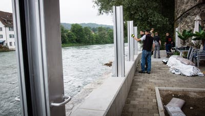 Hochwasser: Feuerwehr Bremgarten übt den Ernstfall